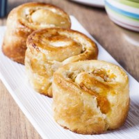 Baked brioche and cheese Recipe